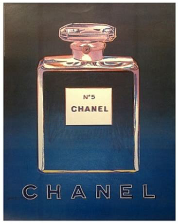 Chanel No 5 by Andy Warhol, blue/purple