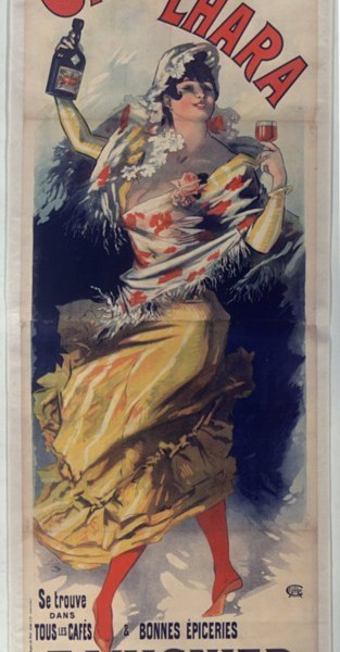 """""""Cacao Lhara,"""" Jules Cheret. 1893"""