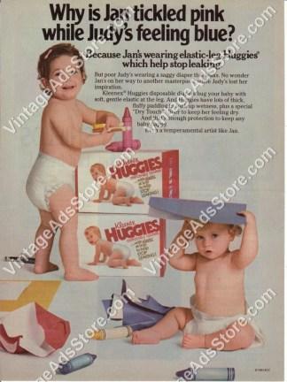 Vintage Huggies Kleenex Brand Supertrim Diaper Dry Touch  Sz L from 1989 KCC