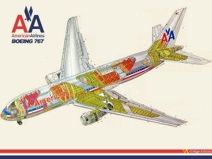 American Airlines Boeing 767 Cutaway