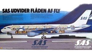 SAS Scandinavian Airbus A300 Cutaway