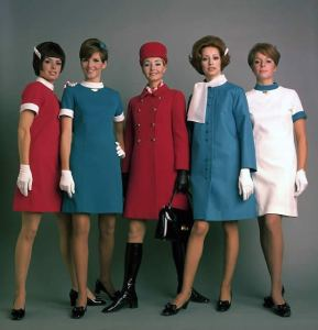 Air Canada Stewardess & Crew Fashion 1970s