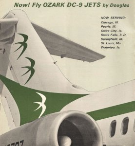 Fly OZARK DC-9 Jets by Douglas 1960s Ad