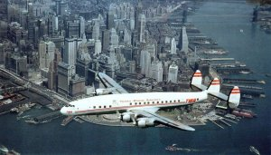 TWA Lockheed Constellation NYC 1950s