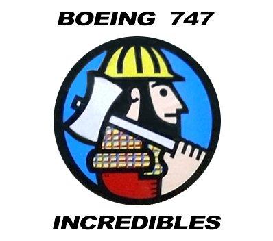 Boeing 747 Incredibles Logo