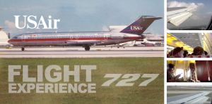 Flight Experience: USAir 727 Charlotte to San Francisco