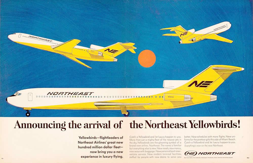 Florida Northeast Airlines Vintage United States Travel Advertisement Poster