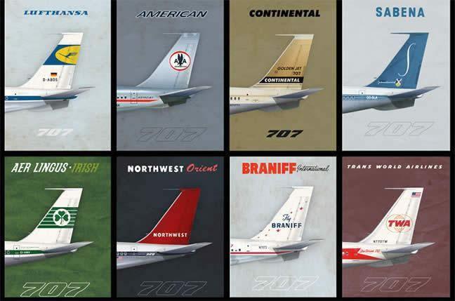 707 poster print