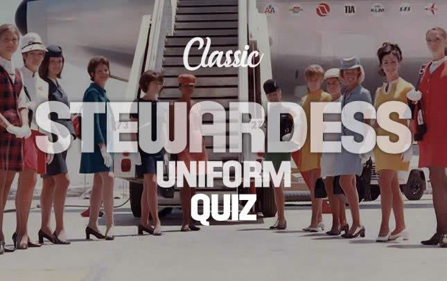 Classic Airline Stewardess Trivia Quiz
