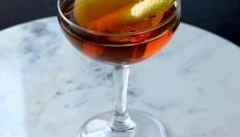 Pre-Prohibition Manhattan Cocktail