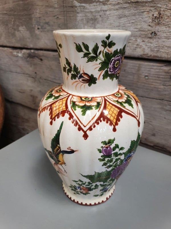 Witte Vaas met Bloemen | Vintage Brabant