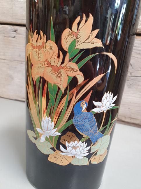 Vintage Japanse Bloemen Vaas   Vintage Brabant