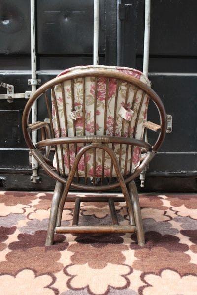Vintage Rotan Kuipstoel   Vintage Brabant