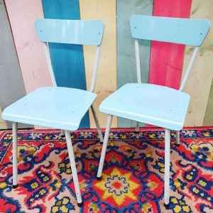 Lichtblauwe Stoeltjes | Vintage Brabant
