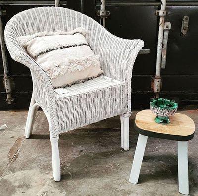 Witte Rotan Stoel | Vintage Brabant