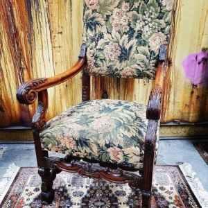Vintage Stoel met Botanisch Design | Vintage Brabant