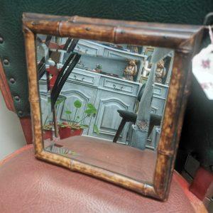 Bamboe spiegeltje | Vintage brabant
