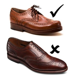 Ein Schuh in Budapester-Machart und ein Full Brogue Oxford.