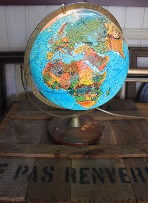 Globe terrestre Vintage
