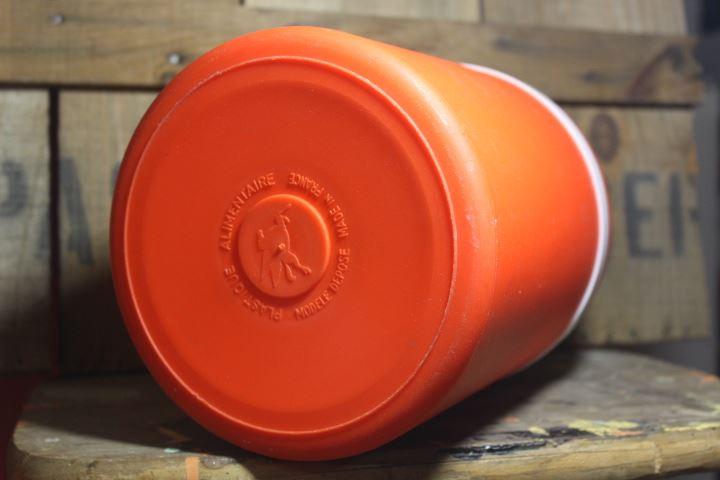 Glacière plastique alimentaire orange Mobil