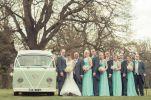 green wedding party campervan