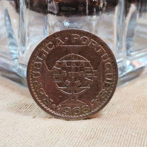 澳門1968年發行1元硬幣 1968 Macau 1 Pataca