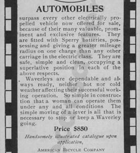 1901 Waverly Electric Advertisement