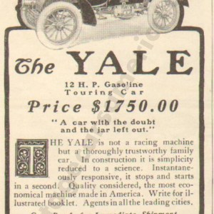 1903 Yale Advertisement