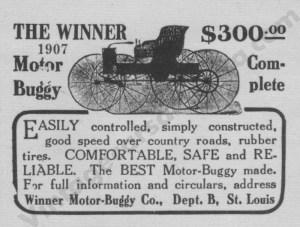 1907 Winner Advertisement