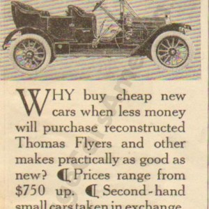 1910 Thomas Advertisement