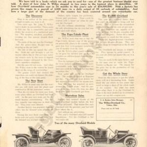 1910 Overland Advertisement #1