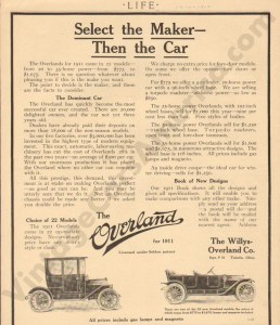 1910 Overland Advertisement #2
