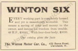 1911 Winton Advertisement