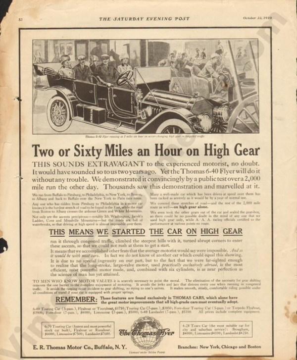 10/22/1910 Thomas Advertisement