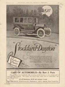1911 Stoddard Dayton Advertisement #2