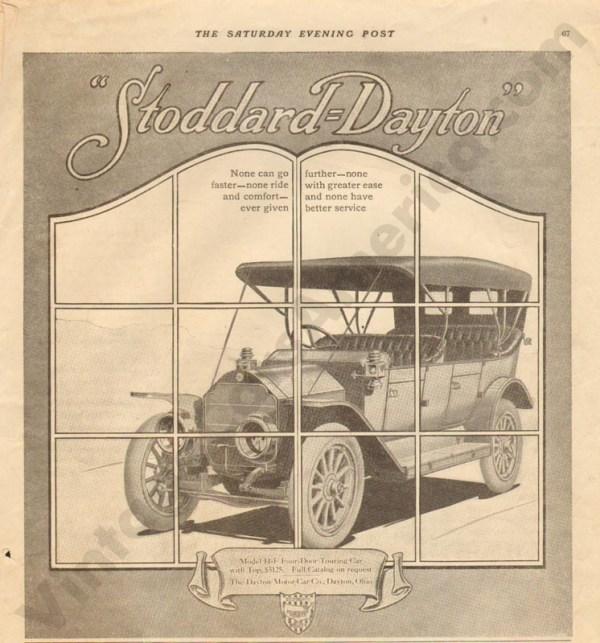 1911 Stoddard Dayton Advertisement #1