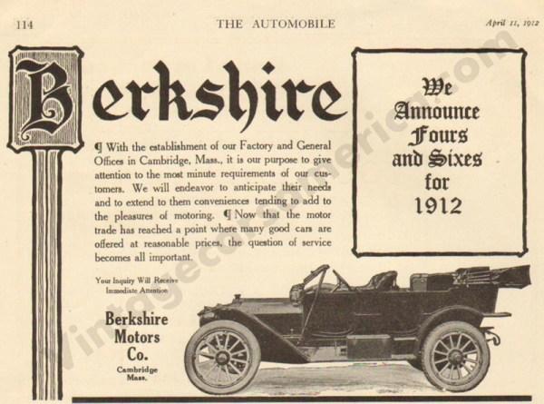 4/11/1912 Berkshire Advertisement