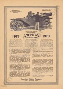 1913 American Underslung Advertisement