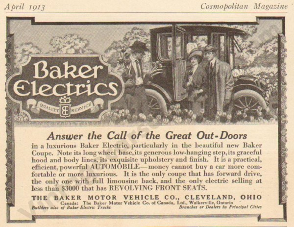 1913 Baker Electric Advertisement