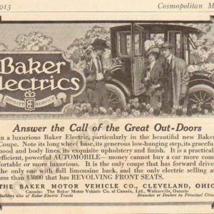 1913 Baker Electric Advertisement