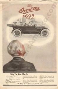 1916 Overland Advertisement #2