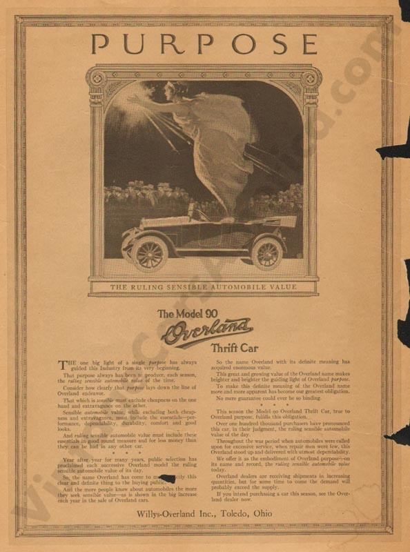 1919 Overland Advertisement #6