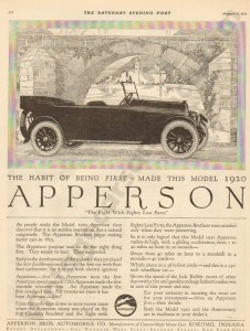 1919 Apperson Advertisement