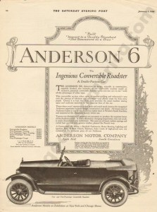 1920 Anderson Advertisement #1