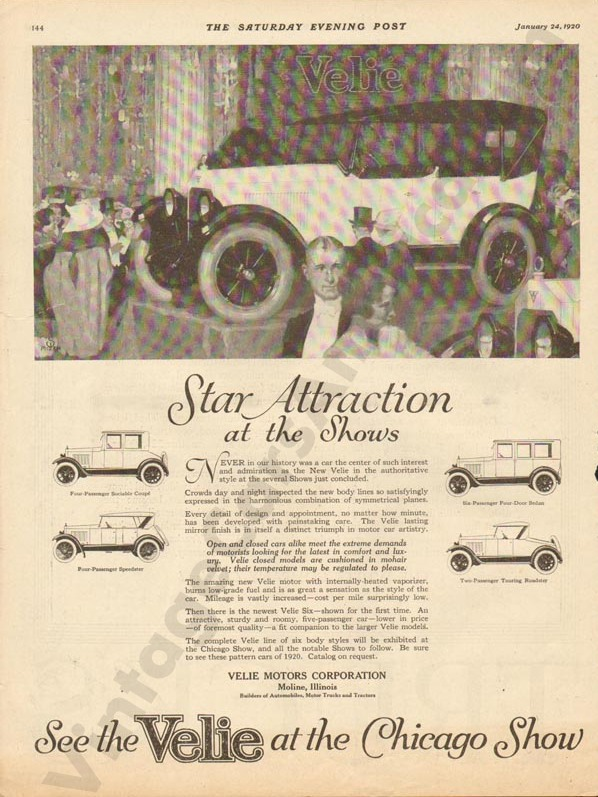 1/24/1920 Velie Advertisement