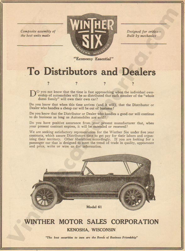 1920 Winther Advertisement