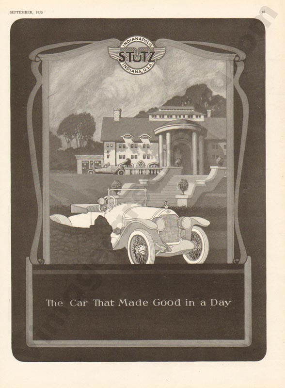 1920 Stutz Advertisement #1