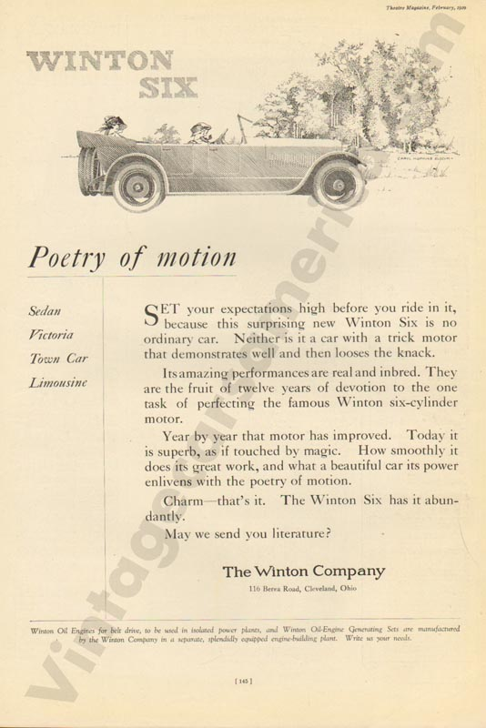 1920 Winton Advertisement