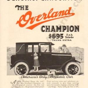 1924 Overland Advertisement #2
