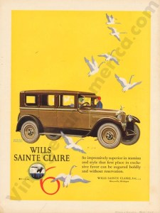 1925 Wills Saint Claire Advertisement #4